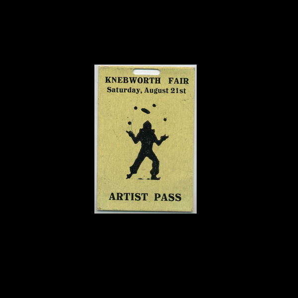 Rolling Stones Artist's Pass Knebworth 1976